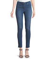 St. John Stretch Denim Slim Ankle Jeans Blue