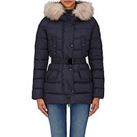 Moncler Women's Clio Fur Trimmed Jacket Navy