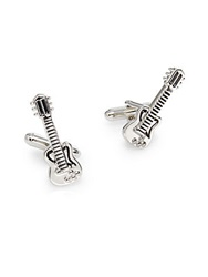 Saks Fifth Avenue Guitar Cuff Links Silver
