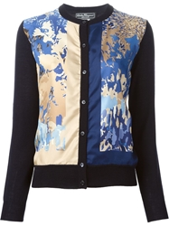 Salvatore Ferragamo Abstract Panel Cardigan Blue