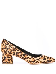 Loeffler Randall Ina Leopard Loafers Brown