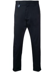 Low Brand Cropped Tailored Trousers Blue