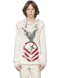 Valentino Embroidered Linen And Silk Blend Sweater