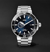 Oris Aquis Small Second Date Automatic 45.5Mm Stainless Steel Watch Silver