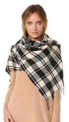 Madewell Plaid Scarf True Black