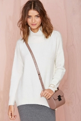 Nasty Gal Big Time Sweater Ivory