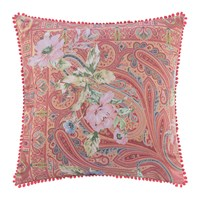 Etro Poitiers Clain Pillow With Trims 60X60cm Pink Green
