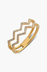 Bony Levy 'Prism' 2 Row Diamond Ring Limited Edition Nordstrom Exclusive Yellow Gold