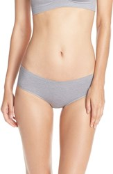 Nordstrom Women's Lingerie Seamless Hipster Briefs Grey Sleet Heather