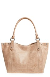 Frye Melissa Leather Shoulder Bag Beige Sand