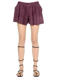 Drome Suede Leather Shorts
