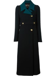 Roberto Cavalli Double Breasted Coat Black