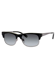Jack Spade Sawyer Partial Rim Wayfarer Sunglasses Black