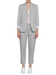 French Connection Summer Linen Trousers Freeway Grey