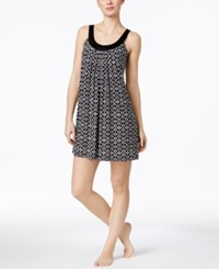 Alfani Scoop Neck Chemise Only At Macy's Black Tuscan Tile