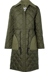 Altuzarra Creedence Reversible Cotton Twill Trimmed Quilted Shell Coat Army Green