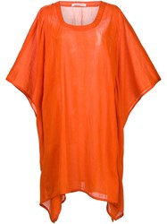 Denis Colomb Summer Poncho Yellow And Orange