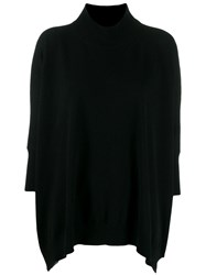 Stefano Mortari Ribbed Turtle Neck Jumper Black