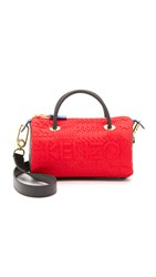 Kenzo Neoprene Mini Duffel Bag Red