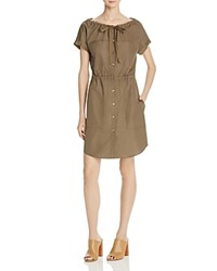 Theory Laela Stretch Cotton Shirt Dress Military