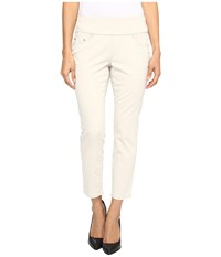 Jag Jeans Petite Amelia Pull On Slim Ankle In Bay Twill Stone Women's Casual Pants White