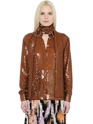 Emilio Pucci Sequins Embroidered Georgette Shirt