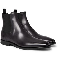 Berluti Leather Chelsea Boots Black