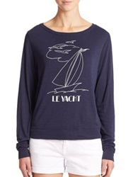 Wildfox Couture 'Le Yacht' Printed Pullover Oxford Poly
