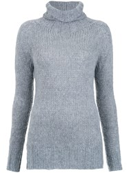 Cecilia Prado Turtle Neck Tricot Blouse Grey