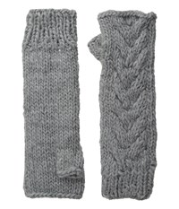 Michael Stars Chunky Cozy Fingerless Gloves Galvanized Extreme Cold Weather Gloves Gray