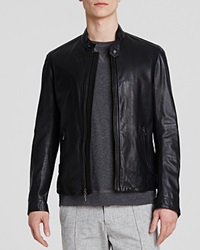 Vince Essential Moto Leather Jacket Black