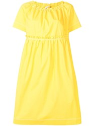 Odeeh Short Sleeve Flared Dress Yellow