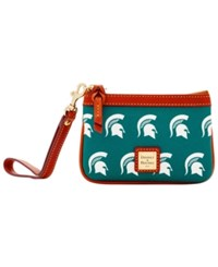 Dooney And Bourke Michigan State Spartans Exclusive Wristlet Green