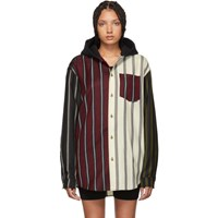 Alexander Wang Multicolor Wool Locharron Hooded Shirt