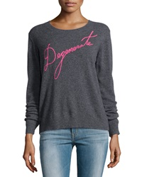 Milly Degenerate Cashmere Pullover