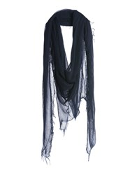 .. Merci Square Scarves Dark Blue