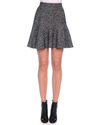 Dolce And Gabbana Fit And Flare Tweed Skirt Dark Gray Dark Grey