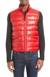 Moncler Men's Gui Down Vest Dark Red