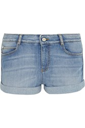 Stella Mccartney Stretch Denim Shorts Blue