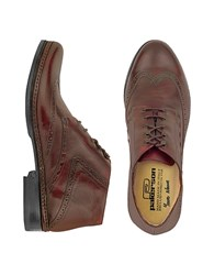 Pakerson Burgundy Handmade Italian Leather Wingtip Ankle Boots