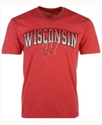 Colosseum Men's Wisconsin Badgers Gradient Arch T Shirt Red