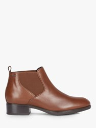 Geox 'S Felicity Leather Chelsea Boots Brown