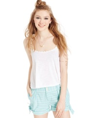 Jolt Juniors' Printed Bow Shorts Blue Stripe