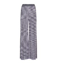 Missoni Zig Zag Knitted Trousers Female Purple
