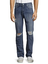 7 For All Mankind Paxtyn Distressed Jeans Navy Blue