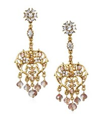Badgley Mischka Chandelier Earrings Gold