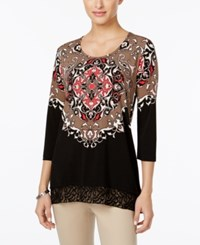 Jm Collection Embellished Printed Tunic Only At Macy's Emperor Medallion