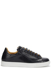 Mr. Hare Cunningham Midnight Blue Leather Trainers Navy