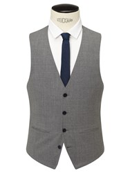John Lewis Kin By Norcott Textured Slim Fit Waistcoat Grey