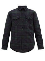 Noon Goons Mullen Checked Flannel Shirt Jacket Black Green